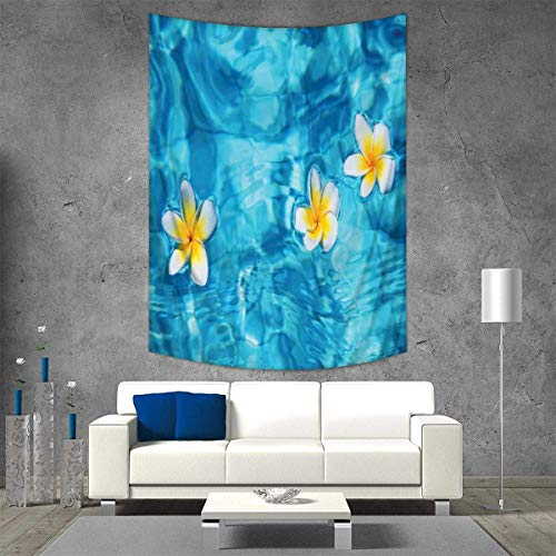 Anhuthree Hawaiian Decorations Wall Tapestry Tropical Frangipani Flower Floating in Water Pool Summertime Ecofriendly Lifestyles Home Decorations for Living Room Bedroom 54W x 84L (Lifestyle California Living Room Table)