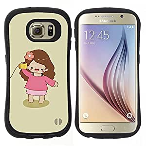 "Pulsar iFace Series Tpu silicona Carcasa Funda Case para Samsung Galaxy S6 , Jugar Madre Mamá minimalista Chica"""