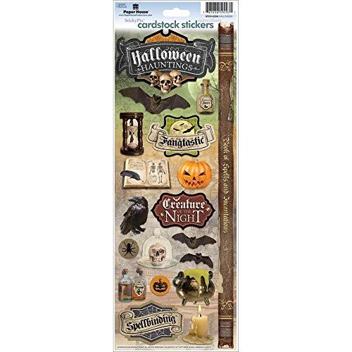 Sticker Scrapbooking Cardstock PaperHouse Halloween Hauntings Poison Skulls 13