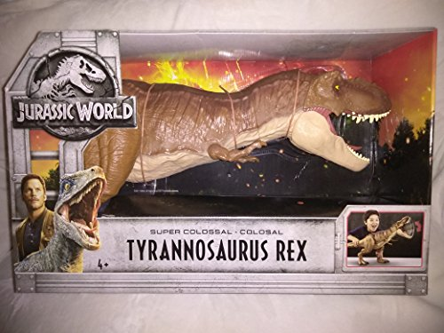 Jurassic World Super Colossal Giant Jumbo Lifelike Tyrannosaurus Rex with Real Features - Swallows and Stores Up to 26 Miniature Dinosaurs - Huge Jaws Give Colossal Bite! New in Unopened Box!