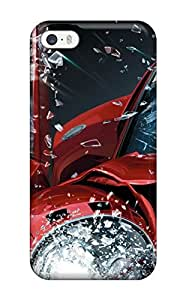 Durable Defender Case For Iphone 5/5s Tpu Cover( Burnout Paradise )