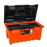 "Truper CHA-19N, Caja para herramienta, modelo ancho para mayor capacidad, naranja, 19"""