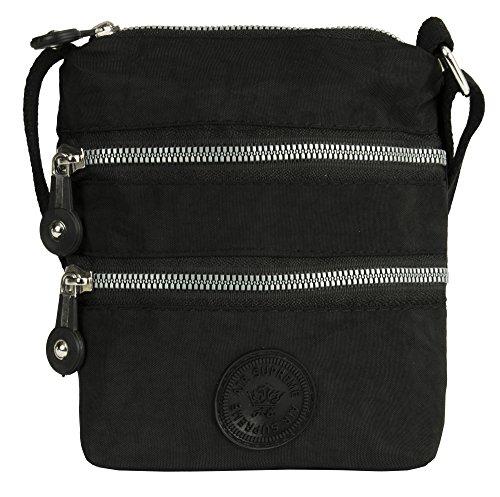 Zippers Porté Big Style Bandoulière Multiple Noir Sac Épaule Avec 1 Handbag Shop En wzUqZg6z