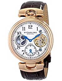 Stuhrling Original Men's 501.03 Special Reserve Emperor Dual Time Analog Display Automatic Self Wind Brown Watch