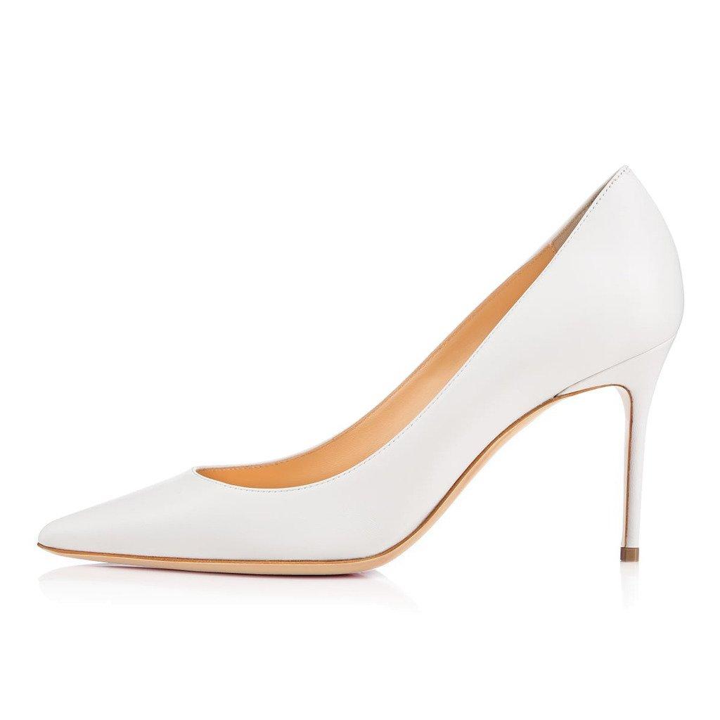 ELASHE Spitze Damen Pumps   8CM Bequeme Lack Stilettos   Elegante High Heels
