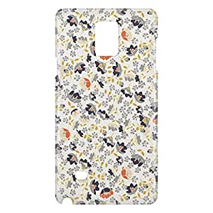Loud Universe Samsung Galaxy Note 4 3D Wrap Around Floral Decorative Print Cover - Multi Color
