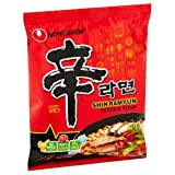 #3: NongShim Shin Ramyun Noodle Soup, Gourmet Spicy, 4.2 Ounce (10 Pack)