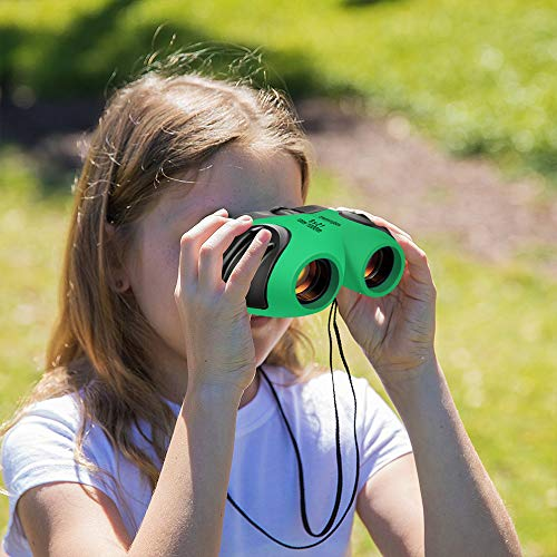 Binoculars for Kids, TOP Gift 8x21 Compact Binoculars for Birding Wide Toys for 3-12 Year Old Boys Girls 2019 New Gift for 3-12 Year Old Girls Boys Girlsstocking Fillers Green TGUS01