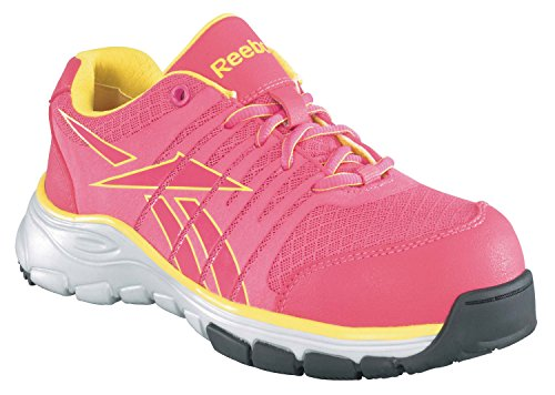 Reebok Work Women's Arion RB458,Pink/Yellow,US 6.5 M