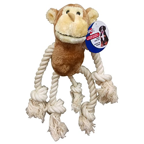 Ethical Moppets Dog Toy Monkey, 12-1/2-Inch
