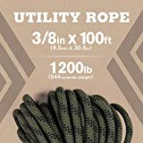 """Atwood Rope MFG 3/8"""" inch 100ft Braided Utility"""
