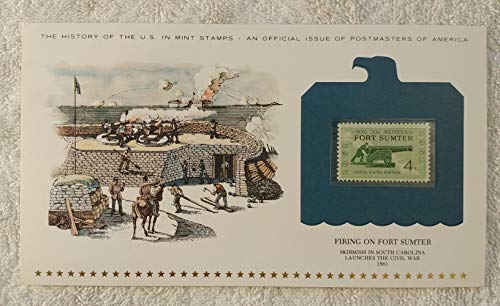 Firing on Fort Sumter - Skirmish in South Carolina Launches the Civil War - Postage Stamp (1961) & Art Panel - History of the United States: an official issue of Postmasters of America - Limited Edition, 1979