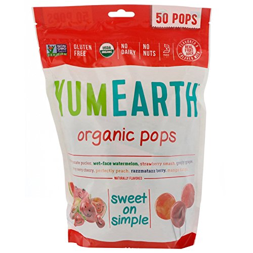 (YumEarth, Organic Pops, Assorted Flavors, (2 Pack) 50 Pops, 12.3 oz (348.7 g))