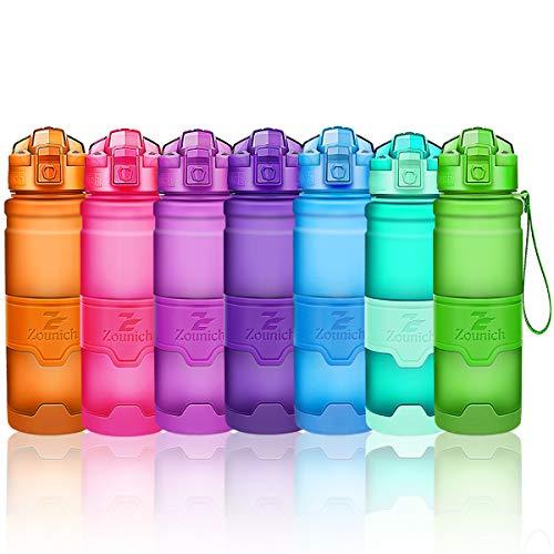 Sports Water Bottle 14oz, 16 oz, 24 oz, 32 oz/1 liter, BPA Free Tritan for Kids/Adults,Reusable& Leak proof& Durable & Measured, Slim Plastic Drink Bottle,for Gym,Fitness,Cycling,Bike,Camping,Outdoor