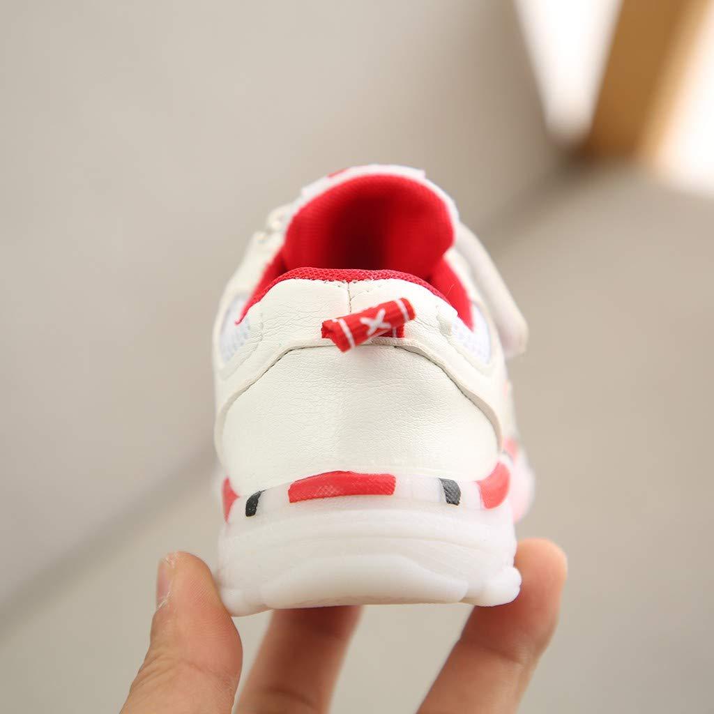 Soupliebe Zapatillas de Deporte con Luces para Ni/ños Ni/ñas Primavera Invierno 2019 Calzado Running Exterior Zapatos de Primeros Beb/és Bautizo Reci/én Nacidos Dura Zapatillas Transpirables