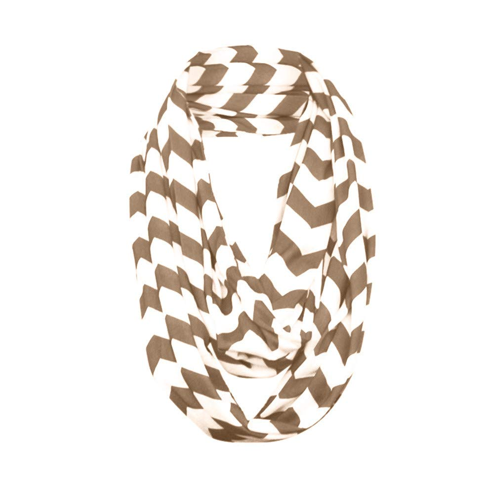 Fashion Scarves for Women Girls Striped Infinity Scarf with Zipper Pocket Lightweight Wrap