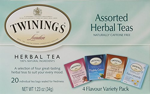 Twinings of London Assorted Herbal Tea Bags, 20 Count ()