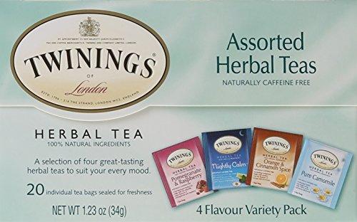 Herbal Tea Pantry (TWININGS Assorted Tea, Herbal, 20 Count)