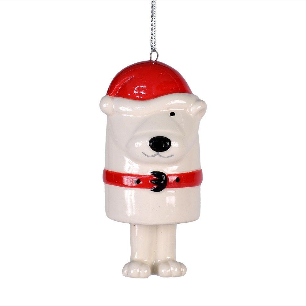 Enesco Department 56 Dear Santa Christmas Décor Bear Bell Ornament, 3.25-Inch 4033009