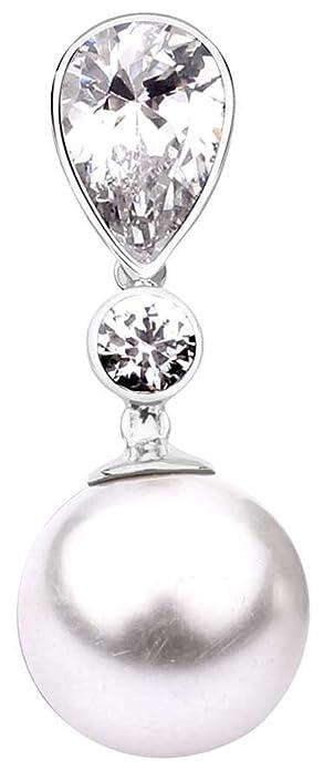 Nenalina Perlen-Anhänger in 925 Sterling Silber mit Swarovski-Perle für  Damen Kette oder Halskette, 262375-050  Amazon.de  Schmuck 5485ca01d2