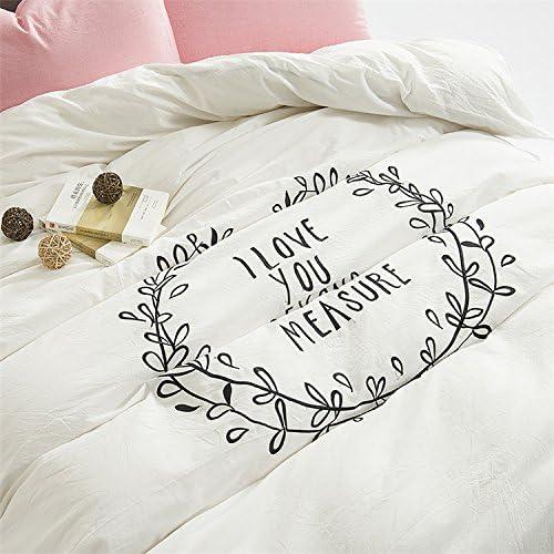 Simple de algodón Blancas Bordadas de Cuatro Piezas de 2,0m de algodón sábanas de algodón Colcha Cama Cubierta del colchón,Hoja de Cama,Xiangxi,1,5 m (5 pies) de la Cama: Amazon.es: Hogar