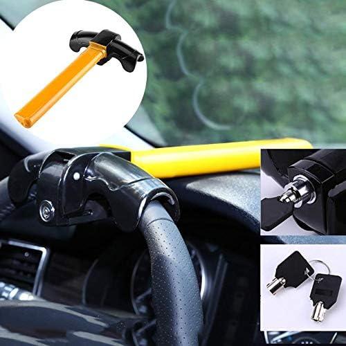 OUYAWEI Universal Car Steering Wheel Anti-Theft Lock Auto for SUV Truck Anti-Theft Security Rotary Steering Wheel Aluminum Lock