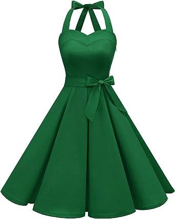 40/'s 50/'s Retro Vintage Audrey Classic Swing Rockabilly Dress 7 Colours New 8-20