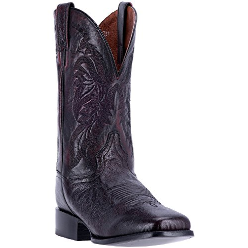 (Dan Post Men's Cherry Callahan Cowboy Boot Broad Square Toe Black Cherry 9.5 D(M) US)