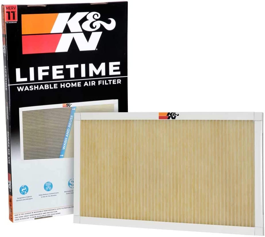 K&N Home Reusable Air AC Furnace Filter, 16x25x1