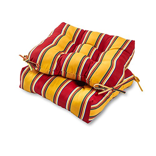 Greendale Home Fashions 20-inch Outdoor Chair Cushion (set of 2), Carnival Stripe (Set Swing Table Dining)