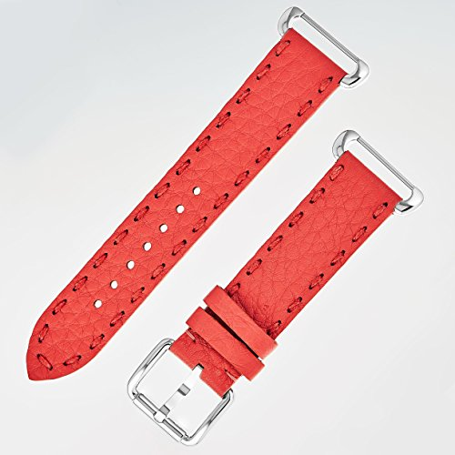 Fendi Selleria Interchangeable Replacement Watch Band - 18mm Red Calfskin Leather Strap with Pin Buckle SSN18RC7S by Fendi