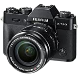 Fujifilm X-T20 Mirrorless Digital Camera w/XF18-55mmF2.8-4.0 R LM OIS Lens - Black (Certified Refurbished)