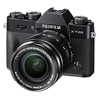 Fujifilm X-T20 Mirrorless Digital Camera w/XF18-55mmF2.8-4.0 R LM OIS Lens - Black (Renewed)