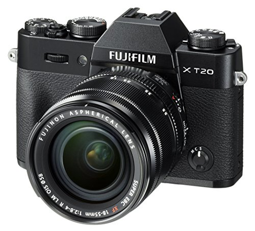 Fujifilm X-T20 Mirrorless Digital Camera w/XF18-55mmF2.8-4.0 R LM OIS Lens - Black (Renewed)