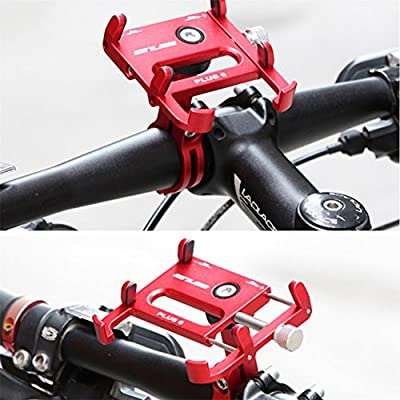 Gub Bicycle & Motorcycle Phone Mount - Aluminum Bike Phone Holder with 360°Rotation Adjustable Handlebar Phone Holder Compatible with iPhone XS XR 8 Plus,Compatible with Samsung S9/S8 (PLUS6 RED)