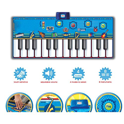 QXMEI Dance Blanket Children's Dance Blanket Stepped Piano Rug Children's Musical Instrument Ottomans Handmade Toys Product Size: 70.9inchs 29.1inchs by QXMEI (Image #3)