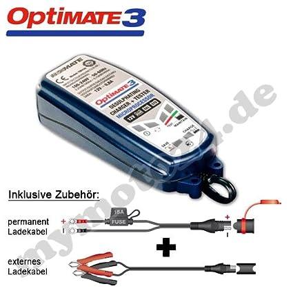 Batería Cargador TecMATE Optimate 3, 12 V Integral de ...