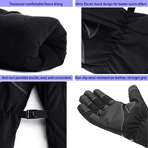 Mens Winter Gloves -30℉Windproof Waterproof Touch Screen Gloves for Outdoor Work