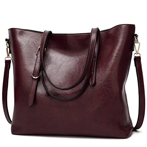 Womens Designer Satchel Purses and Handbags Ladies Tote Bags Shoulder Bags by (Red Purse)