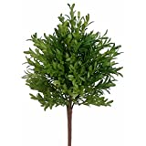 15'' Plastic Tea Leaf Artificial Plant -Green (pack of 12)