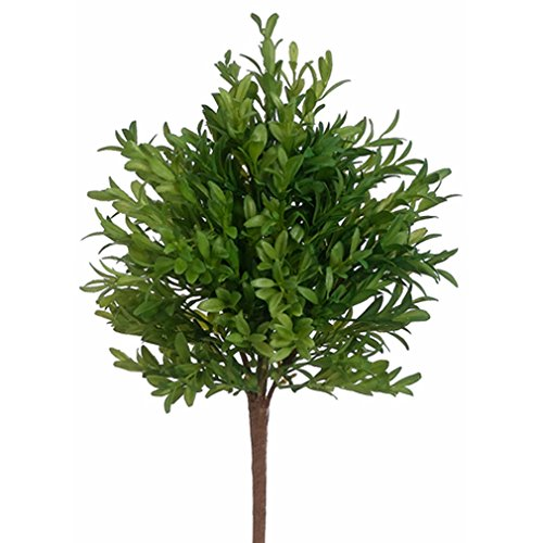 15'' Plastic Tea Leaf Artificial Plant -Green (pack of 12) by SilksAreForever