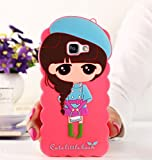 LOXXO Present Case For Samsung Galaxy A9 Pro Cute Cartoon Lovely Girl Case New Painting Soft Silicone Phone Back Cover For Samsung A9 Pro BLUE CAP
