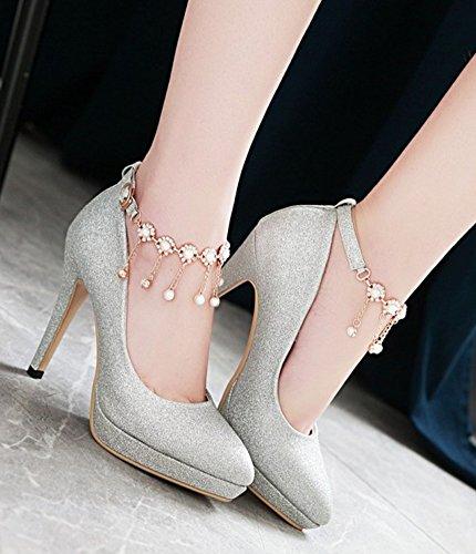 e3be450fd7b Escarpin À Talon Femme Escarpins Aisun Avec Strass - Plateforme Talon Haut  Bout Pointu - Chaussures ...