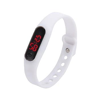 Culater® Caucho LED Unisex Fecha Deportes pulsera reloj de pulsera digital (Blanco): Amazon.es: Deportes y aire libre