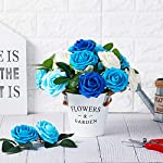 NT-NIETING-Roses-Artificial-Flowers-25pcs-Real-Touch-Artificial-Foam-Roses-Decoration-DIY-for-Wedding-Bridesmaid-Bridal-Bouquets-CenterpiecesParty-Decoration-Home-Display-SeriesB-Blue