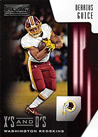 2018 Playbook Xs and Os Football  39 Derrius Guice Washington Redskins  Official NFL Card Produced d1797399c