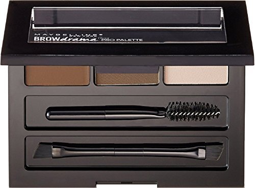 Maybelline New York Brow Drama Pro Palette, Deep Brown 0.1 oz (Pack of 2)