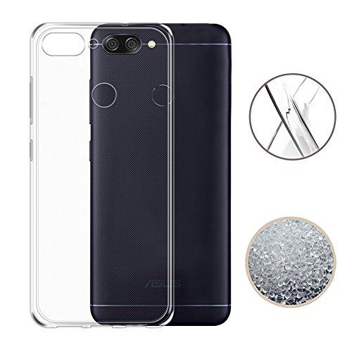 ASUS ZenFone Max Plus ZB570TL Case, TopACE Ultra Thin Transparent Soft Gel TPU Silicone Case Cover for Asus ZenFone Max Plus (M1) ZB570TL (Clear)