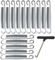 5.5 Inch(14cm) Trampoline Springs Heavy Springs Stainless Steel Galvanized Springs (15 Pcs) and 1T-Hook