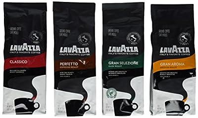 Lavazza Classico, Gran Aroma, Gran Selezione & Perfetto Ground Coffee (Pack of 4) from Lavazza